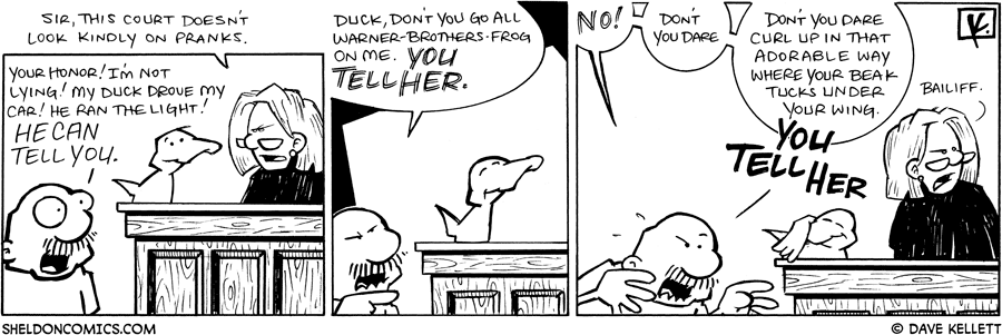 strip for March / 6 / 2009 - Is this a prank?