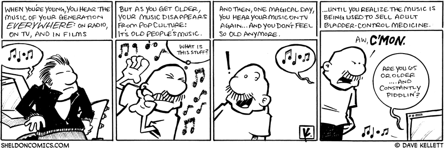 strip for March / 9 / 2009 - What music do you hear?