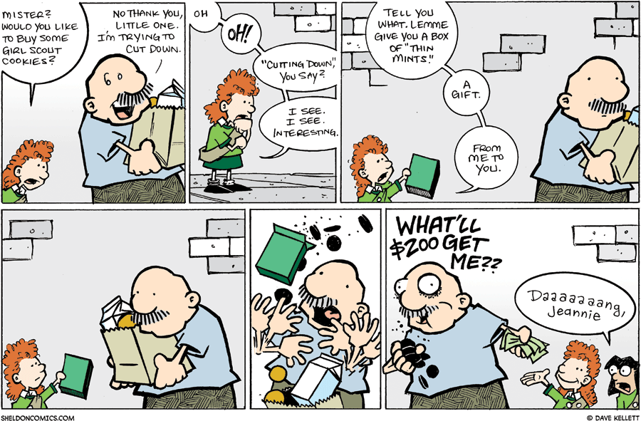 strip for March / 15 / 2009 - Would you like to buy some Girl Scout Cookies?