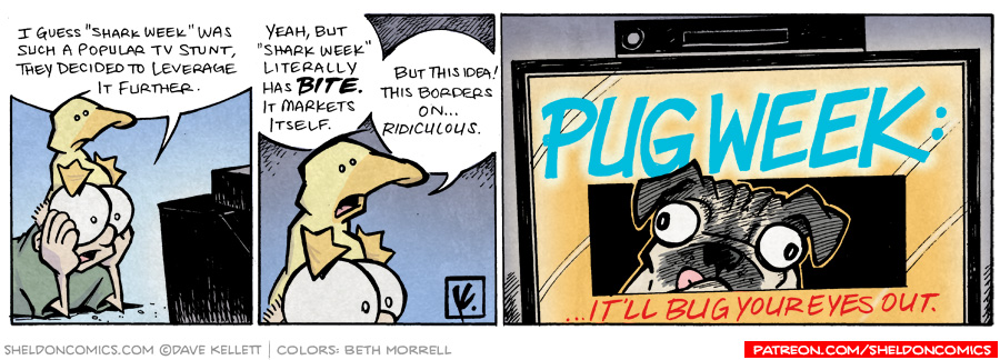 strip for March / 16 / 2009 - What did Shark Week lead to?