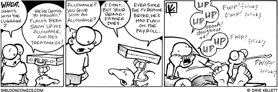 strip for March / 23 / 2009 - What's with the luggage?