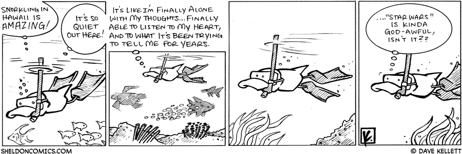 strip for March / 28 / 2009 - Snokling in Hawaii is...