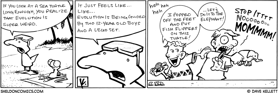 strip for March / 30 / 2009 - Is evolution super weird?