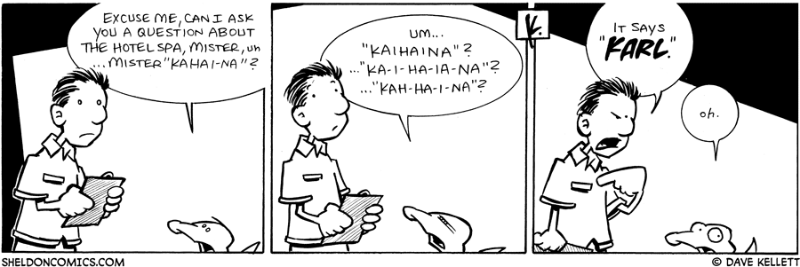 strip for April / 2 / 2009 - Can I ask you a question about...