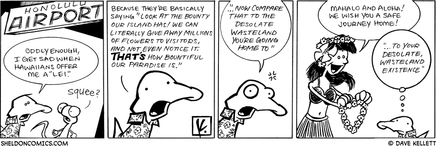 strip for April / 3 / 2009 - How does Arthur feel about a Hawaiian Lei?