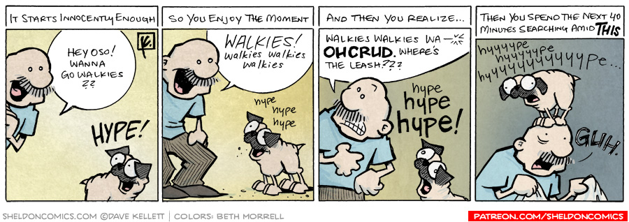 strip for April / 6 / 2009 - Want to go walkies?