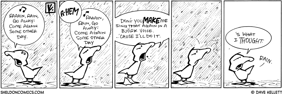 strip for April / 8 / 2009 - How does Arthur feel about rain?