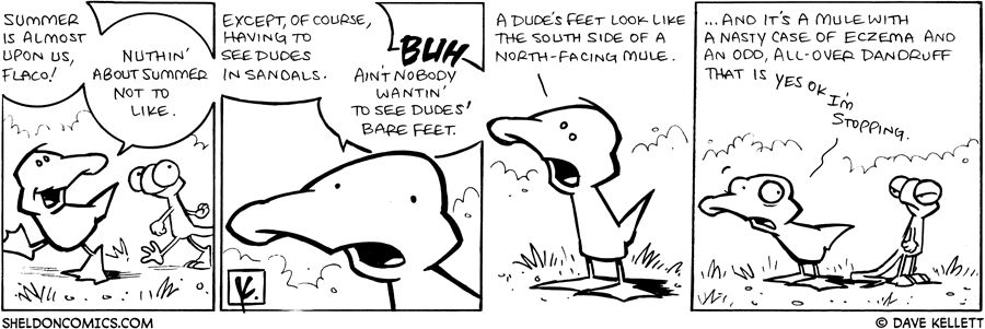 strip for April / 9 / 2009 - Nuthin' about summer not to like except...