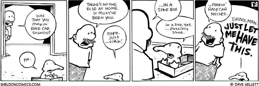 strip for April / 15 / 2009 - Was that you Arthur makin' race car sounds?