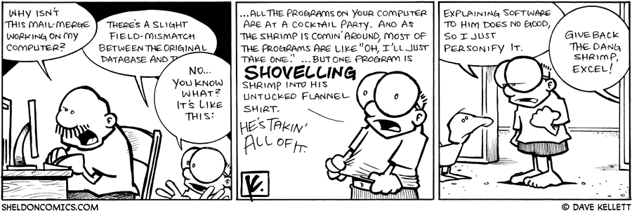 strip for April / 17 / 2009 - Why isn't this working on my computer?