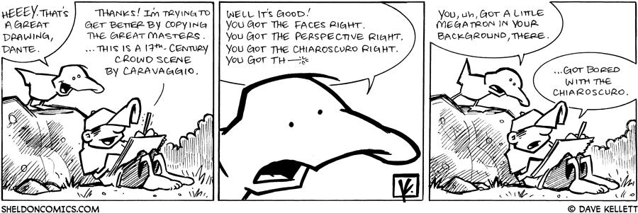strip for April / 27 / 2009 - What does Arthur think about Dante's drawing?