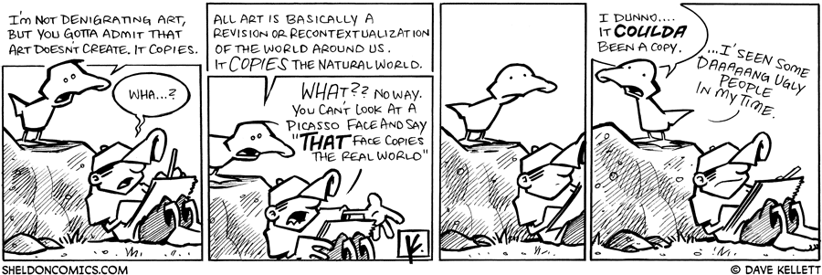 strip for April / 29 / 2009 - What does Arthur think about art?