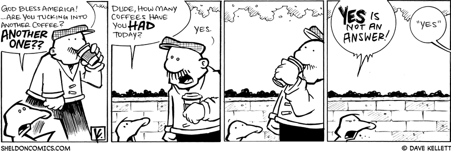 strip for May / 2 / 2009 - Are you tucking into another coffee Gramp?