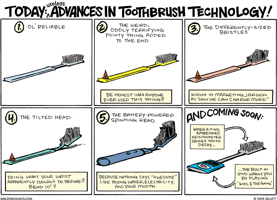 strip for May / 3 / 2009 - The useless advances in toothbrush technology are...