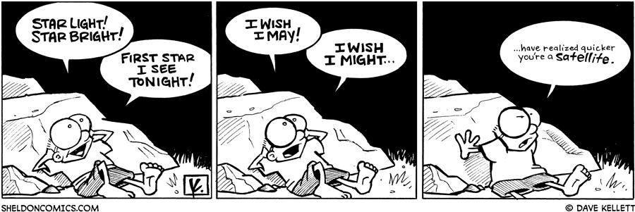 strip for May / 6 / 2009 - What does Sheldon see in the night sky?