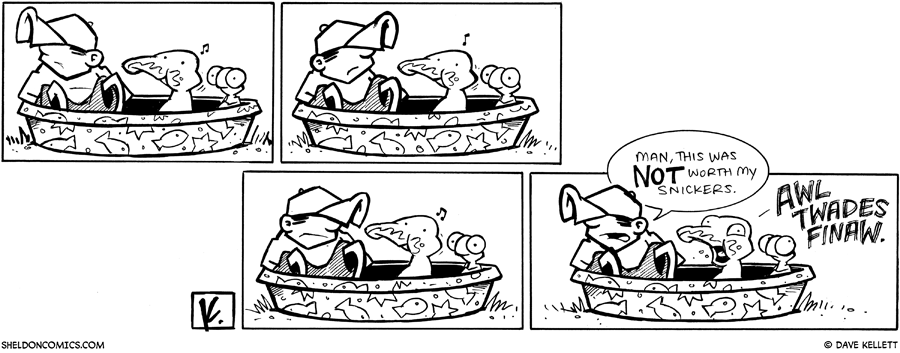 strip for May / 13 / 2009 - Dante gets in the pool and...