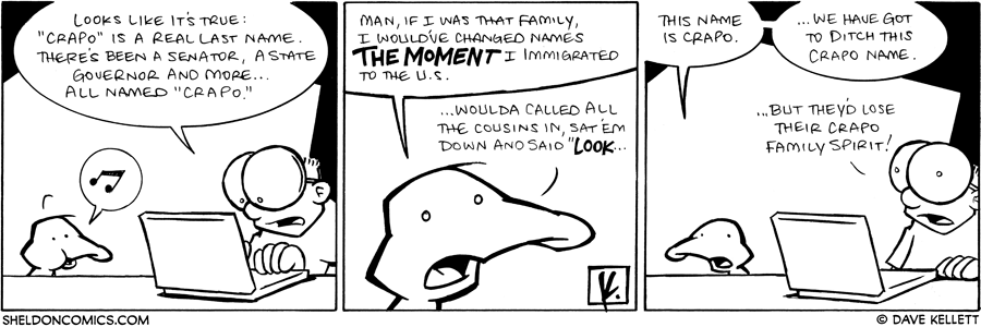 strip for June / 3 / 2009 - Is Crapo a real last name?