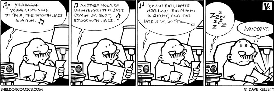 strip for June / 10 / 2009 - What is Gramps listening to?