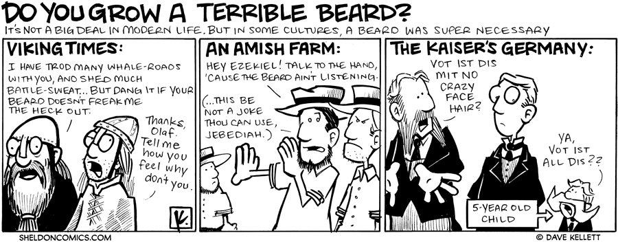 strip for June / 25 / 2009 - Do you grow a terrible beard?