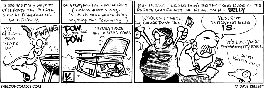 strip for July / 4 / 2009 - How do you celebrate the Fourth?