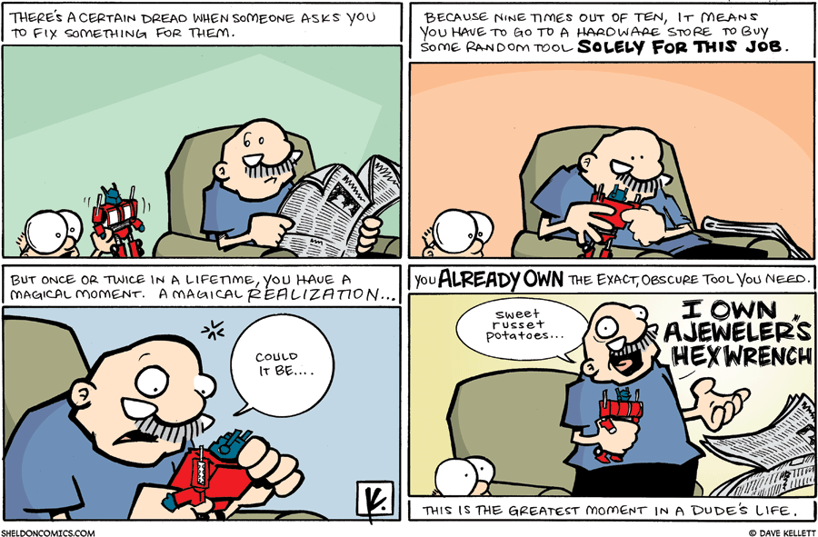 strip for July / 5 / 2009 - Why do you feel dread when someone ask you to fix something?