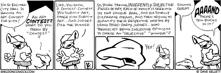 strip for July / 9 / 2009 - Why is Dante excited?