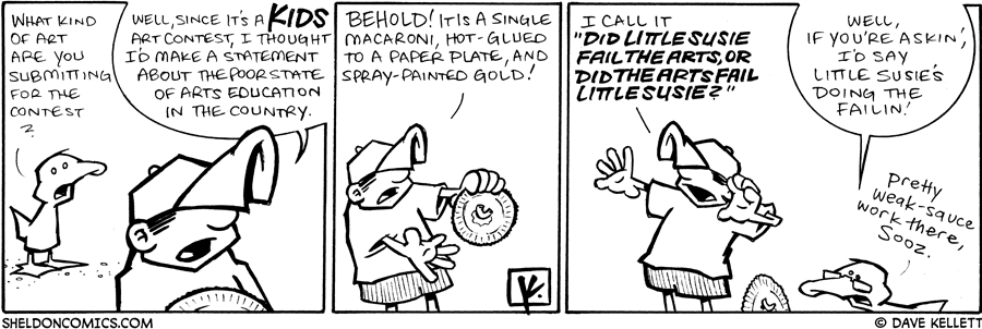 strip for July / 10 / 2009 - What kind of art are you submitting for the contest?