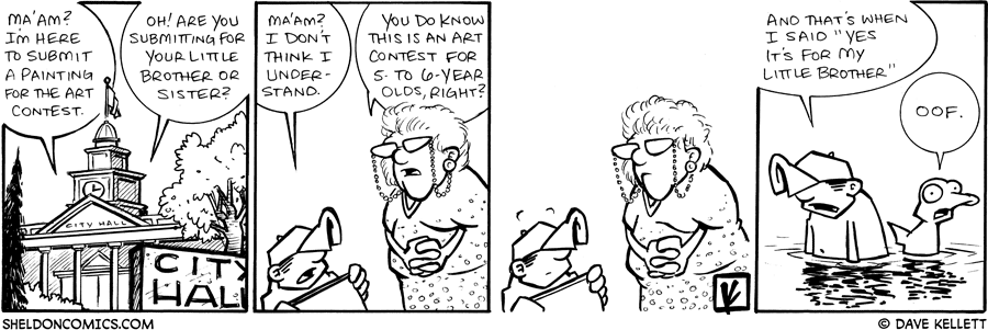 strip for July / 13 / 2009 - Dante goes to City Hall and...