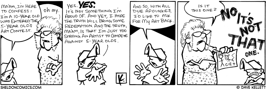 strip for July / 15 / 2009 - Ma'am, I'm here to confess...