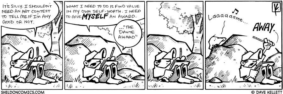 strip for July / 16 / 2009 - What does Dante conclude?