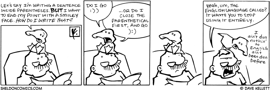 strip for July / 17 / 2009 - Will Arthur figure out how to write...