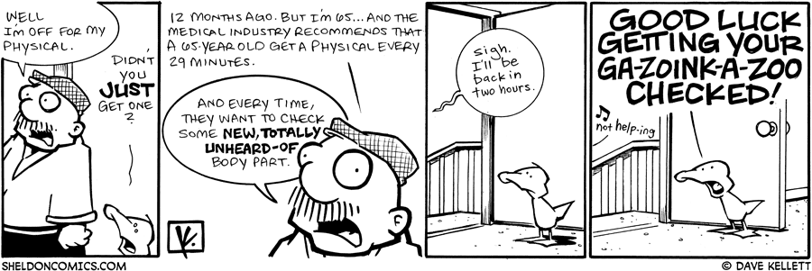 strip for July / 21 / 2009 - Where is Gramp off to?