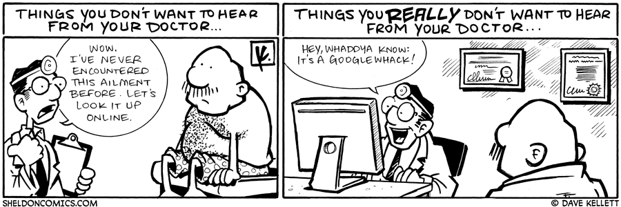 strip for July / 23 / 2009 - When Gramp goes to the doctor...