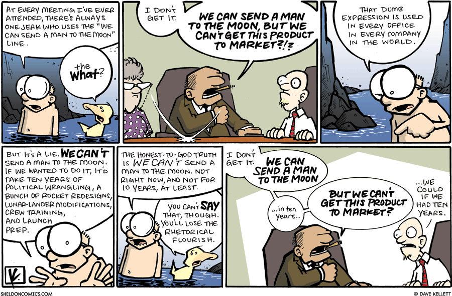 strip for July / 26 / 2009 - At every meeting I've ever attended, there's always one jerk who...