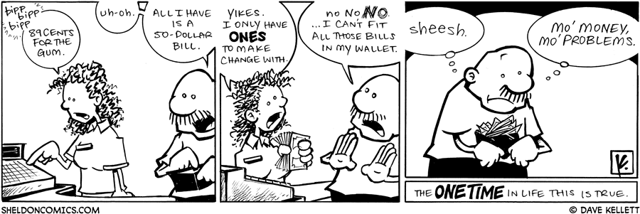 strip for July / 31 / 2009 - Gramps tries to pay, but...
