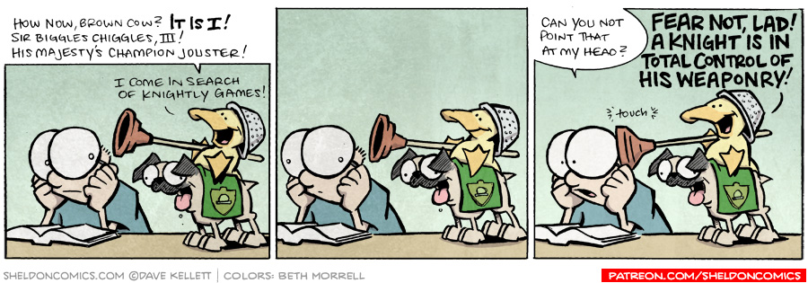 strip for August / 18 / 2009 - How now, brown cow?
