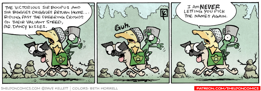 strip for August / 25 / 2009 - Who returns home past the cheering crowds?