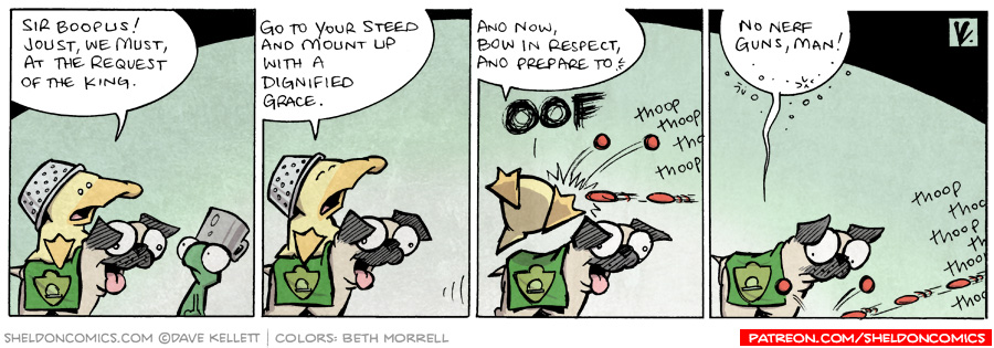 strip for August / 27 / 2009 - Sir Boopus! Joust we...