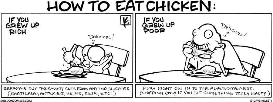 strip for September / 3 / 2009 - How to eat chicken...