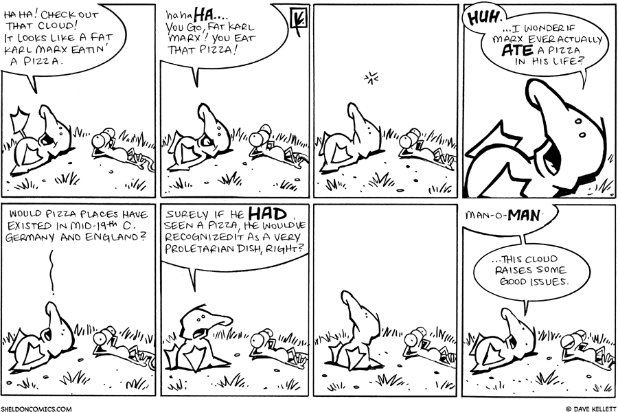 strip for September / 9 / 2009 - That cloud looks like...