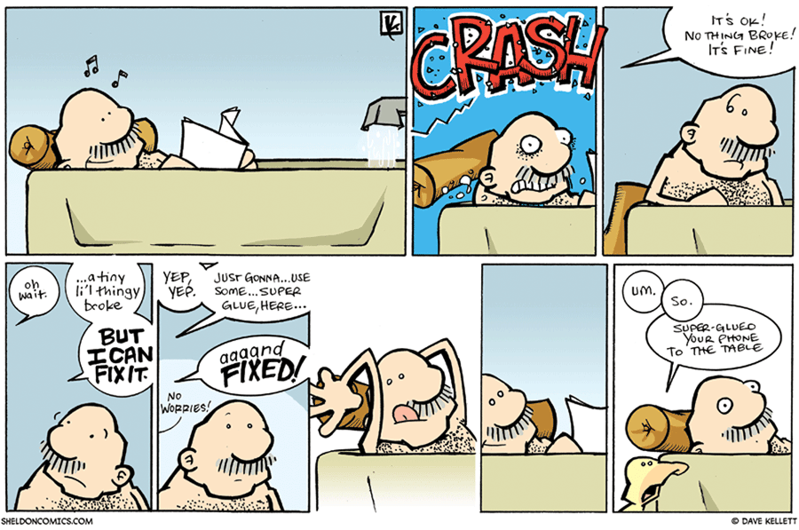 strip for September / 13 / 2009 - What happens when Gramp takes a bath?