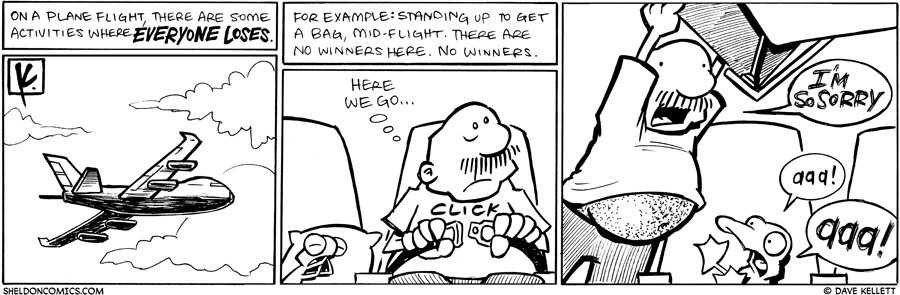 strip for October / 1 / 2009 - On a plane flight, there are...