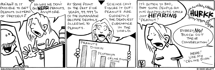 strip for October / 2 / 2009 - Could I get Peanuts instead of Pretzels?