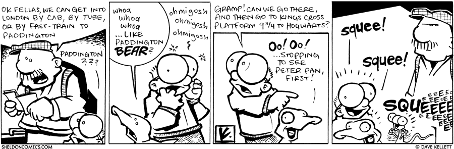 strip for October / 7 / 2009 - They get to London and...