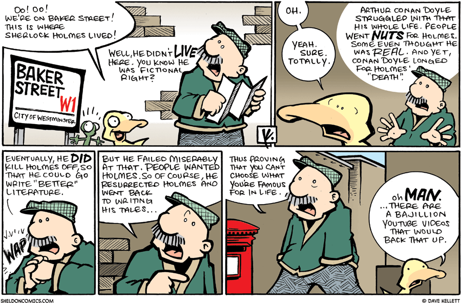 strip for October / 11 / 2009 - Do you know who lived here?