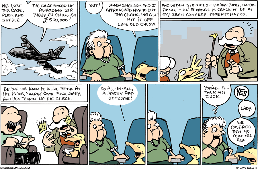 strip for October / 18 / 2009 - What happens to Arthur on the plane ride back?