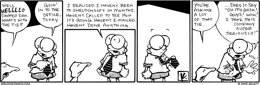 strip for November / 9 / 2009 - What's with the tie Sheldon?