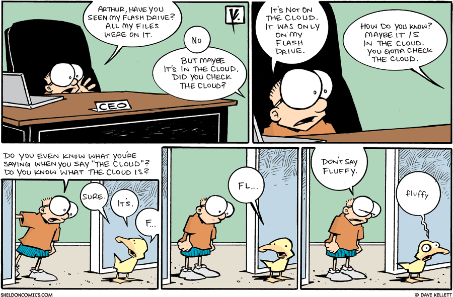 strip for November / 15 / 2009 - Have you seen my flash drive?