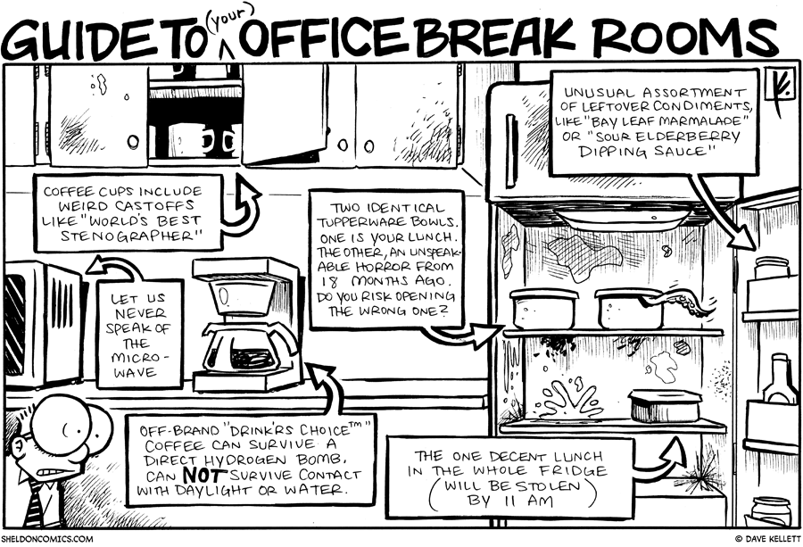 strip for November / 16 / 2009 - The Office Break Room looks like...