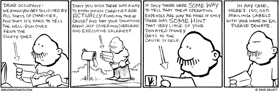 strip for November / 19 / 2009 - What does the letter say?